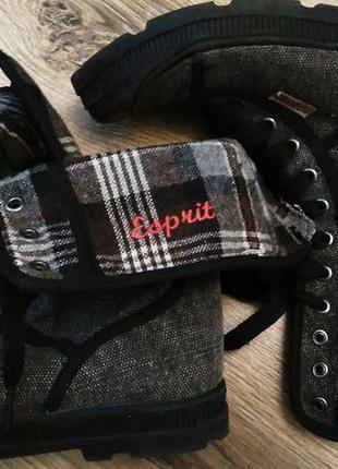 Кеды ботинки высокие кеды 36 esprit