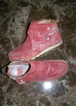 Рр 38-24,5 см стильные ботинки yellow cab кожа
