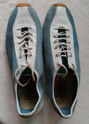 Спортивные туфли, замша+кожа, стелька 25