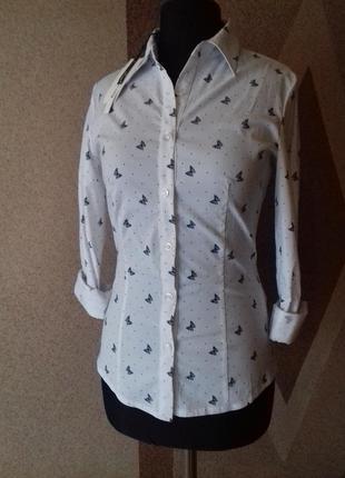 Стильная женская рубашка с оригинальным принтом