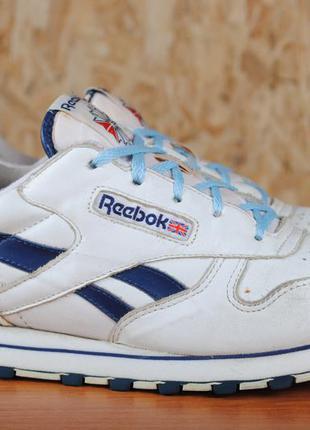 Белые кожаные кроссовки reebok classik vintege. 37 размер. оригинал