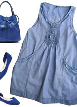 Платье джинсовое рахмер 44-46 бренд  vila