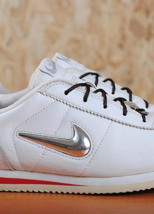 Белые кожаные кроссовки nike cortez, найк. 38.5 размер. оригинал