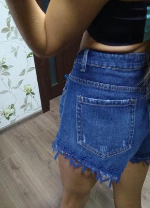 Шорты шортики джинс джинсовые размер 12 красивые