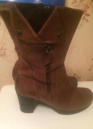 Ботинки полусапожки сапоги кожаные gabor 24cм