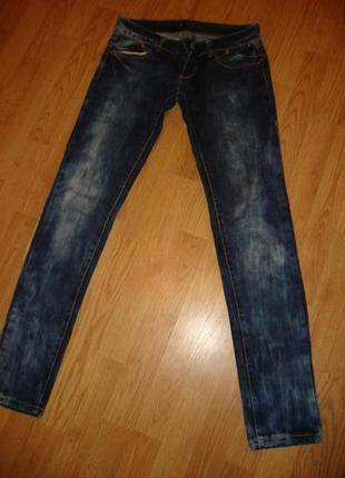 Сині джинси m з плотного джинсу