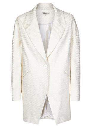 Трендовое роскошное пальто бойфренд, кокон marks&spencer limited collection