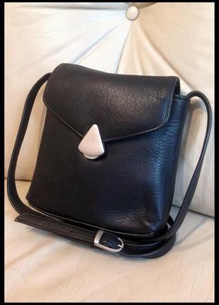 Стильная кожаная сумка кроссбоди - 100% натуральная кожа