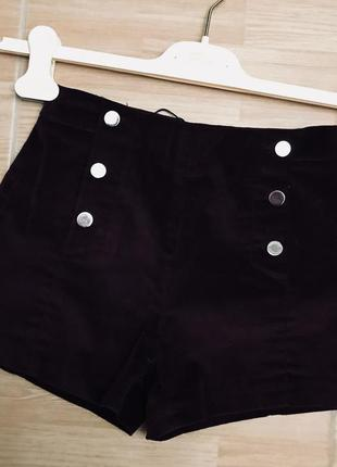 Bershka велюровые шорты