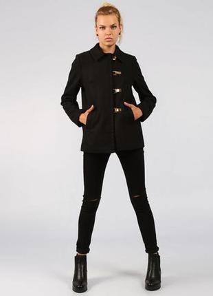 Пальто женское h&m полушерсть р.s-m