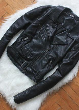 Новая! куртка кожанка эко-кожа кожзам косуха miss selfridge с ремнем