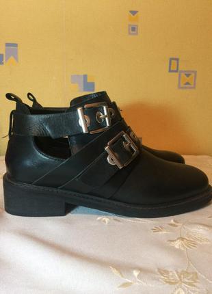 Pull&bear кожаные ботинки