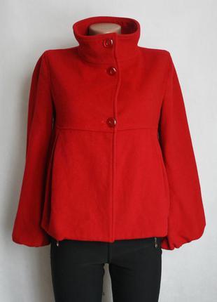 Короткое шерстяное пальто sisley, размер хс-с