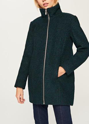 Тёплое пальто на синтепоне 40% шерсть reserved s m l шерстяное