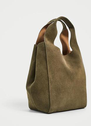 Кожаная сумка шоппер zara оригинал из испании