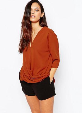 Блуза теракотового цвета ax paris