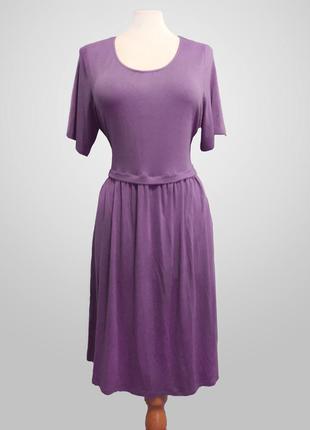 Женственное нежное светло-фиолетовое платье