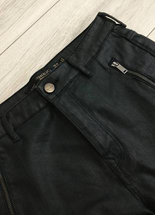 Нереальные джинсовые шорты под кожу высокая посадка zara