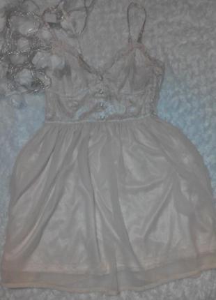 Нежный,воздушный сарафан,платье,кружево,шифон,цвет пудра,беж,нюд.