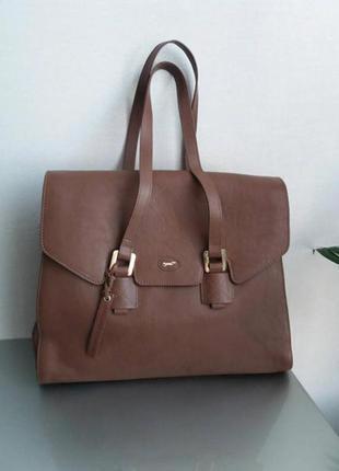 Большая сумка шоппер из натуральной кожи