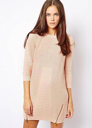 Платье джемпер вязаное платье