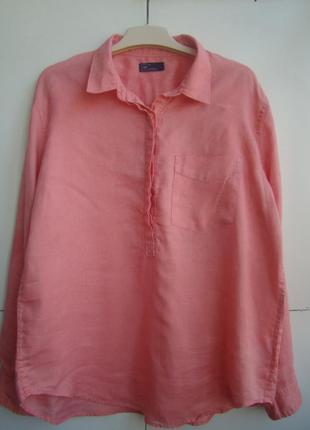 Красивая льняная блузочка, бренда gap, подойдет на 48,50,52 р.