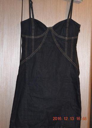 Джинсовое платье бюстье bershka