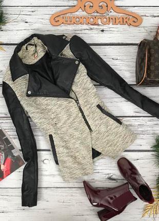 Куртка с элементами эко-кожи  ow180332  only