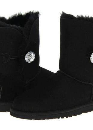 Акция ! ugg bailey button bling black