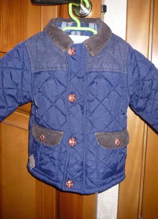 Куртка деми стеганная некст 12-18 мес 86 см