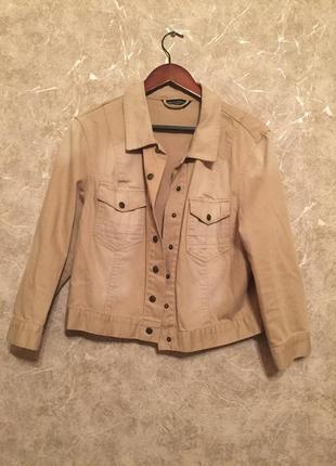 Бежевая джинсовая куртка dorothy perkins