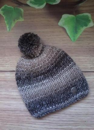 Двойная шерстяная шапка от mr520 меланж