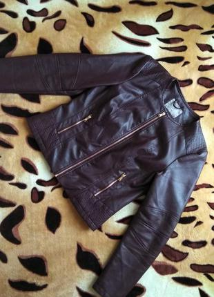 Vero moda короткая курточка кожзам