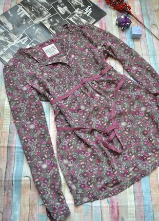 Шифоновая блуза в цветочный принт с завязкой esprit