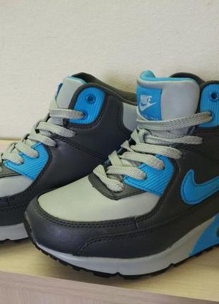 Женские зимние кроссовки nike air mаx blue 37 размер (стелька 23,5 см)