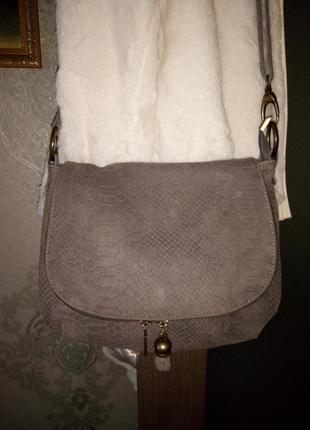 Роскошная замшевая сумочка  borse in peiie