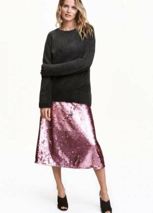 Шикарная юбка, h&m. размер 36(s)
