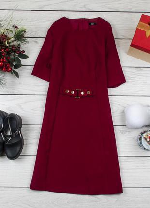 Платье плотное красное от f&f размер uk 16 наш р. 50