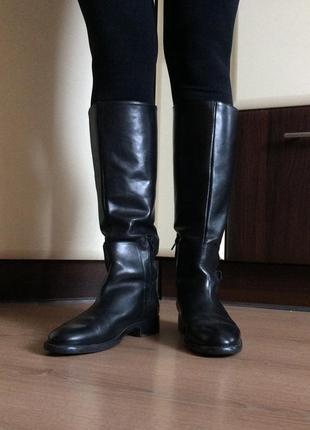Zara сапоги кожаные ботинки