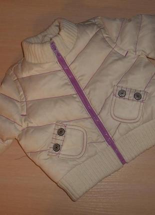 Пуховик, куртка для девочки gap 6-12 мес, 80 см, хлопок, оригинал