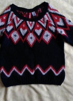 Стильный теплый свитер h&m