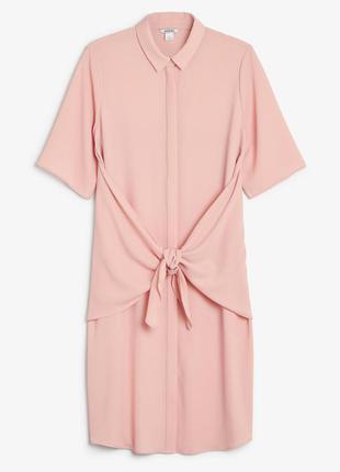 Monki платье миди рубашка оверсайз блузка удлиненная