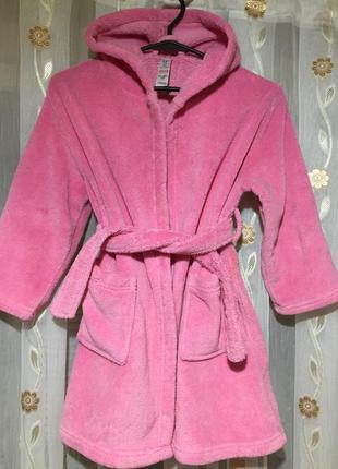 Плюшевый ,тепленький мягенький халат от george,на 5-6 лет!