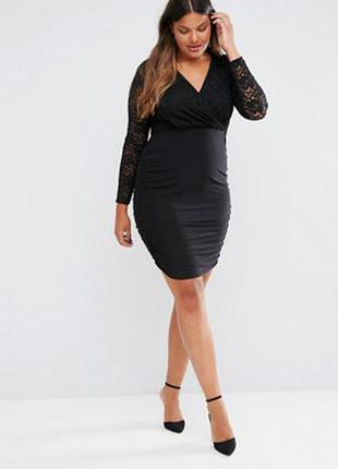Платье с гипюровым верхом из сайта asos