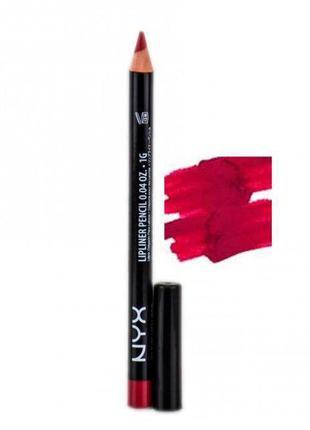 Карандаш для губ nyx slim lipliner pencil (spl813 plush red)