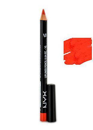 Карандаш для губ nyx slim lipliner pencil (orange spl824)