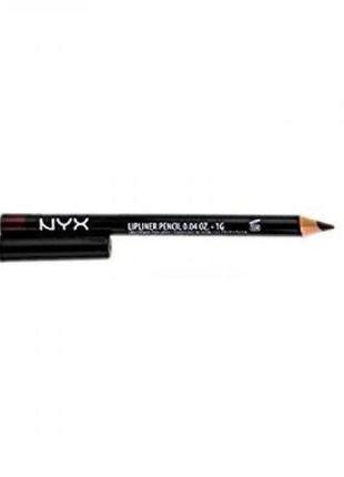 Карандаш для губ nyx slim lipliner pencil (currant spl830)