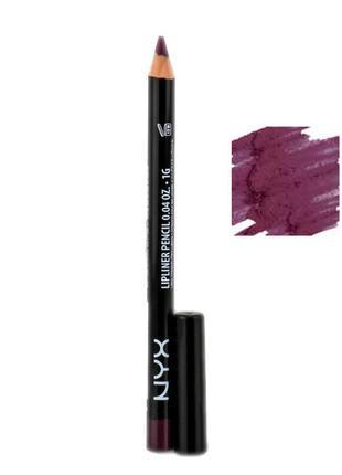 Карандаш для губ nyx slim lipliner pencil (prune spl834)