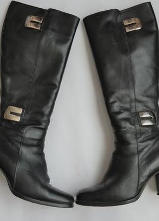 Зимние кожаные сапоги на цигейке barbara dossi (германия)