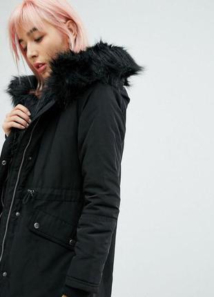 Per una парка теплая s 44р на синтепоне черная весна пальто куртка с капюшоном